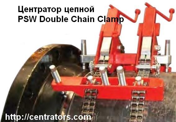 Фото Центратор PSW Double Chain Clamp цепной для сварки труб SAWYER