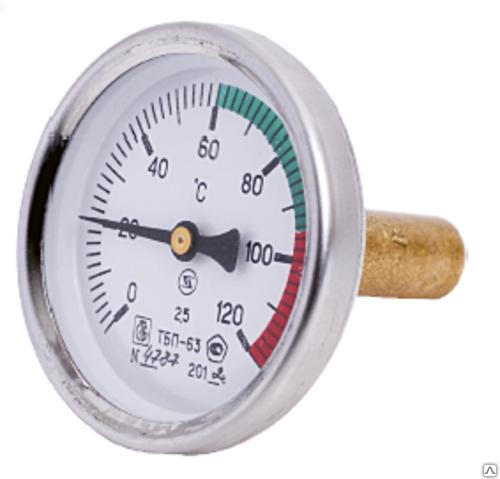 Фото Термометр биметаллический 120°C L=100, Краснодар