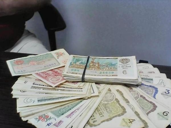 Фото Продам старые лотерейные билеты 60-х; 70-х; 80-х годов